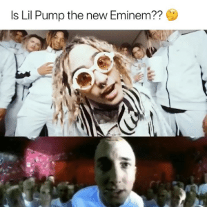 Eminem, Lil Wayne, and Link: Is Lil Pump the new Eminem?? Double tap if you agree 🤔🔥 NEW @lilpump x Lil Wayne out NOW 🔊 Harverd Dropout streaming on all platforms 🎓 HIT THE LINK @lilpump bio👉🏽