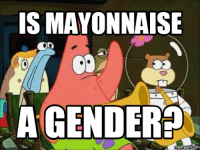 mayonnaise: IS MAYONNAISE  Con  AGENDERED  memes COM