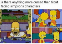 The Simpsons: is there anything more cursed than front  facing simpsons characters
