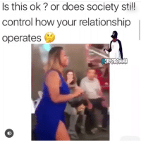 Memes, Control, and 🤖: Is this ok? or does society sti!  control how your relationship  operates Thoughts? 🤔