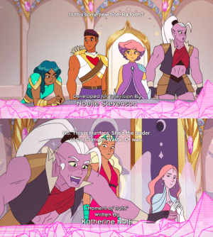 "tolstoyevskywrites:  ""Is this some new She-Ra form?"" 