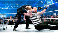 Wrestling, World Wrestling Entertainment, and Any Minute: is  w Any minute now that glass is going to shatter...