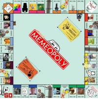 """<p>Memepoly. Own Internet memes.<br/>(<a target=""""_blank"""" href=""""http://www.urlesque.com/2011/02/28/memeopoly/"""">laughingsquid</a>)</p>: IS3HD  CHANCE  COMMUNITY  CHEST  LUXURY TAX  LONGCAT  PRICE 9000 PAY 575,00 PRICE 5350  PRICES g00  PRICE $320  PRICE $300  PRICE $300 <p>Memepoly. Own Internet memes.<br/>(<a target=""""_blank"""" href=""""http://www.urlesque.com/2011/02/28/memeopoly/"""">laughingsquid</a>)</p>"""