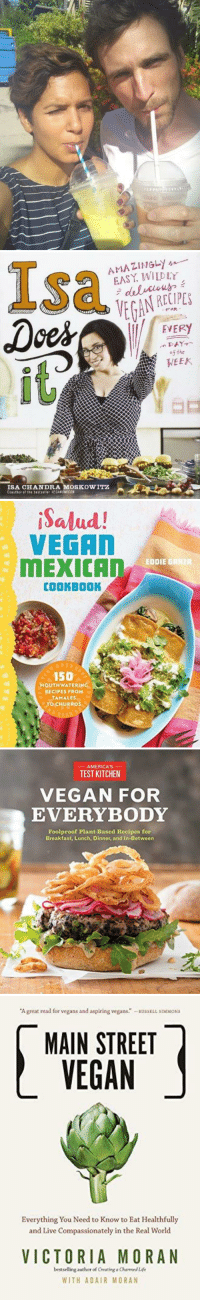 "Af, Animals, and Fashion: Isa  AMAZINGLy  EASY WILDLY  RECIPES  EVERY  5the  it  WEEK  ISA CHANDRA MOSKOWITZ  Coauthor af the bestseller PESANOHICON   iSalud!  VEGAN  MEXIC  EDDIE GRRIR  COOKBOOK  150  MOUTHWATERING  RECIPES FROM  TAMALES  TO CHURROS   -AMERICAS-  TEST KITCHEN  VEGAN FOR  EVERYBODY  Foolproof Plant-Based Recipes for  Breakfast, Lunch, Dinner, and In-Between   A great read for vegans and aspiring vegans."" RUSSELL SIMMONS  MAIN STREET  VEGAN  Everything You Need to Know to Eat Healthfully  and Live Compassionately in the Real World  VICTORIA MORAN  bestselling author of Creating a Charned Life  WITH ADAIR MORAN lol-coaster:   ""Hi, my name is Prya. I became vegan about a year ago. It started with food but pretty quickly I wanted to use only cruelty free beauty and fashion products. But that was a bit more challenging.Things like finding a new perfume (most famous perfumes are tested on animals) or a warm sweater without wool were, and still are, not easy. But the more I started searching I stumbled upon some great brands that believe cruelty free is the way to go.I decided to post the products I use and the ones on my wishlist here. But not only my favorites, I would also like to know and feature your favorite cruelty free products! ""  https://crueltyfreeproducts.store/"