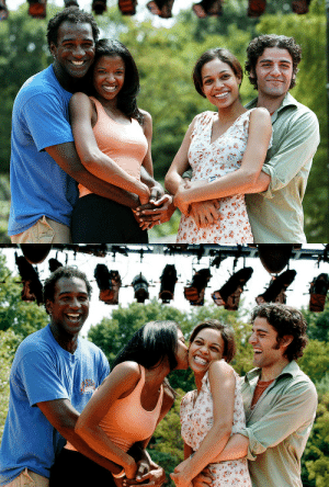 isaacoscar:  Norm Lewis, Renee Elise Goldsberry, Rosario Dawson and Oscar Isaac at the Open Rehearsal of the 'Shakespeare in the Park' Production of The Two Gentlemen of Verona' at Delacorte Theatre in New York City (August 18, 2005)  😍❤️😍❤️😍: isaacoscar:  Norm Lewis, Renee Elise Goldsberry, Rosario Dawson and Oscar Isaac at the Open Rehearsal of the 'Shakespeare in the Park' Production of The Two Gentlemen of Verona' at Delacorte Theatre in New York City (August 18, 2005)  😍❤️😍❤️😍