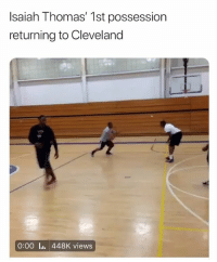 Basketball, Cavs, and Los Angeles Lakers: Isaiah Thomas' 1st possession  returning to Cleveland  0:00 Ii. 448K views 😂😂 nba nbamemes isaiahthomas cavs lakers