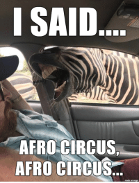 Imgur, Afro, and Made: ISAID  AFRO CIRCUS  AFRO CIRCUS  made on imgur Afro Circus
