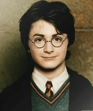 In the movie Harry Potter, the main character has a scar on his forehead so that viewers can easily differentiate him from his friends Ronald Weasley and Hermione Granger.: ISAIDNOPEEKING In the movie Harry Potter, the main character has a scar on his forehead so that viewers can easily differentiate him from his friends Ronald Weasley and Hermione Granger.