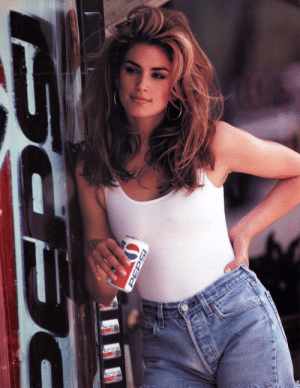 Pepsi, Pepsi Commercial, and Cindy Crawford: ISDEP Cindy Crawford in a Pepsi Commercial, 1992