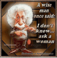 Wise Man Once Said: isfaction  A Wise  man  once said  I don't  know...  ask a  Woman