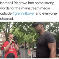 "Love, Memes, and News: Ishmahil Blagrove had some strong  words for the mainstream media  outside  #grenfelltower and everyone  cheered ""I like you fried, boiled - any which way I can have you motherfuckers"" 😳 I am trying my best to put forward important information without being an asshole or causing shock and panic. ❤️ - In other news... If you are a part of any of the recovery teams at GrenfellTower then be well aware of unscrupulous unemotional beings who are thinking logically and actively infiltrating your groups to divide and rule your people for their boss. This is a very real threat in the days-weeks-months-years ahead and I have included leads to information detailing where this has happened in the past if you wish to do further research. - My main point here is to be ORGANISED, CENTRALISED and VIGILANT so as to be aware of any external or internal threats to justice and to move forward with a common aim. Also be aware of human rights lawyers who are in fact agents during civil proceedings to provide damage limitation for the government and state. - Peace, love and unity will be taken advantage of so all that 'love for all' shit becomes dangerous. Act logically not emotionally and I am wishing all the best 🙏 - Cointelpro (American in name but its operation is used by many governments enshrined in different terms) FTAC (Similar to cointelpro but they section you under the mental health act if you are a threat to ""VIPs"" aka government agents) GovernmentShills Misinformation"