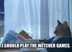 After catching up with what the heck Cyberpunk 2077 hype was about.: ISHOULD  PLAYTHEWITCHER GAMES. After catching up with what the heck Cyberpunk 2077 hype was about.