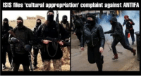 ~ Viper: ISIS files 'cultural appropriation' complaint against ANTIFA ~ Viper