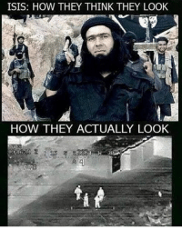 If you look closely, you'll see 4 goatfuckers on their way to the barnyard for the orgy...: ISIS: HOW THEY THINK THEY LOOK  HOW THEY ACTUALLY LOOK If you look closely, you'll see 4 goatfuckers on their way to the barnyard for the orgy...