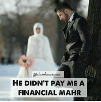 """Beautiful story. """"Hiba Ammar writes: When my father proposed to my mother, he dedicated Surah Al-Imran, which he memorized off heart, as her """"Mahr"""" (dowry). And when my husband proposed to me, my father told him that he would have to memorize a Surah of the Quran as my mahr. The wedding will not go on unless I've received my mahr I was asked to pick one of the surahs. I chose Surah Al-Noor. For all the laws that Surah contained within it and for the fact that it seemed hard to memorize on my behalf. And before our wedding day; aside of being busy preparing for our """"Newly wedded Nest"""", the Quran wouldn't leave my husband's hand an entire month as he was memorizing the Surah. A few day before our wedding day, my husband came to recite to my father the Surah which he had completed. My father told him every time u make a mistake, you would have to start from the beginning all over again. My husband began reciting Surah Al-Noor with his calm-gentle voice in such a """"beautiful"""" scene which I will never forget. My mother and I would look at one another and would smile awaiting my husband to make a mistake so he would have to start all over again and by that increase my """"Reward"""". But my husband - May Allah bless him - had memorized the Surah off heart and didn't even forget one single verse of it. Once he finished my father hugged him and said to him: """"Today I shall marry my daughter to you, for you have fulfilled her mahr and your pledge to me.."""" He didn't pay me a financial mahr, and we didn't buy gold worth tens of thousands. He sufficed me with Allah's words as an oath- contract between us. And the Question is.... I wonder what Surah my daughter will chose as her mahr in the future?"""": Islam feveryone  HE DIDNT PAY ME A  FINANCIAL MAHR Beautiful story. """"Hiba Ammar writes: When my father proposed to my mother, he dedicated Surah Al-Imran, which he memorized off heart, as her """"Mahr"""" (dowry). And when my husband proposed to me, my father told him that he would have to memori"""