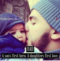 Dad, Life, and Love: @islam4everyone  DAD  A Son's first hero. A daughters first love .¸¸.•*´¯`♥ LETTER FROM A FATHER ♥´¯`*•.¸¸. . ~✿~To Sons and Daughters, . ••••►Dear one… . ••••►The day that you see me old and I am already not, have patience and try to understand me … . If I get dirty when eating… if I can not dress… have patience. Remember the hours I spent teaching it to you. . If, when I speak to you, I repeat the same things thousand and one times… do not interrupt me… listen to me. . When you were small, I had to read to you thousand and one times the same story until you get to sleep… . When I do not want to have a shower, neither shame me nor scold me… . ••••►Remember when I had to chase you with thousand excuses I invented, in order that you wanted to bath… . When you see my ignorance on new technologies… give me the necessary time and not look at me with your mocking smile… . I taught you how to do so many things… to eat good, to dress well… to confront life… . ••••►When at some moment I lose the memory or the thread of our conversation… let me have the necessary time to remember… and if I cannot do it, do not become nervous… as the most important thing is not my conversation but surely to be with you and to have you listening to me… . When my tired legs do not allow me walk… . … give me your hand… the same way I did when you gave your first steps. . Try to understand that my age is not lived but survived. . Some day you will discover that, despite my mistakes, I always wanted the best thing for you and that I tried to prepare the way for you.. . You must not feel sad, angry or impotent for seeing me near you. You must be next to me, try to understand me and to help me as I did it when you started living. . Help me to walk… help me to end my way with love and patience. I will pay you by a smile and by the immense love I have had always for you. . I love you …~✿~ . ••••►Your father . ~✿~[LIKE n SHARE]~✿~