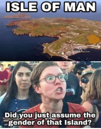 Memes, 🤖, and Gender: ISLE OF MAN  Did you just assume the  gender of that Island? 😂😂😂