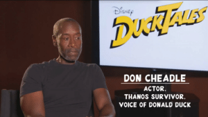 Target, Tumblr, and Survivor: ISNE  DON CHEADLE  ACTOR.  THANOS SURVIVOR,  VOICE OF DONALD DUCK thestomping-ground:They went there