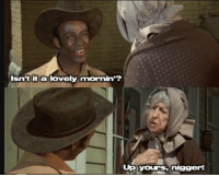 Young man greeting Trump supporter (2018 Colorized): Isn't it a lovely mornin'?  Up yours,nigger! Young man greeting Trump supporter (2018 Colorized)
