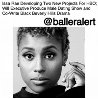"Dating, Growing Up, and Hbo: Issa Rae Developing Two New Projects For HBO;  Will Executive Produce Male Dating Show and  Co-Write Black Beverly Hills Drama  @balleralert Issa Rae Developing Two New Projects For HBO; Will Executive Produce Male Dating Show and Co-Write Black Beverly Hills Drama – blogged by @MsJennyb ⠀⠀⠀⠀⠀⠀⠀ ⠀⠀⠀⠀⠀⠀⠀ IssaRae is killing it, as she continues to produce and provide content to represent the culture. From her HBO hit series, ""Insecure,"" which focuses on the struggles and triumphs of an awkward black girl in Los Angeles to two brand new series that have been picked up by the network. ⠀⠀⠀⠀⠀⠀⠀ ⠀⠀⠀⠀⠀⠀⠀ According to Deadline, as part of Rae's 2016 first look producing deal with the network, Rae, along side former 'Daily Show' writer, Travon Free, will be producing a new comedy, titled, ""Him or Her."" The show will be produced as a single camera, half-hour series about the dating life of a bisexual black man. Free will serve as the writer for the series while Deniese Davis will executive produce, alongside Rae. ⠀⠀⠀⠀⠀⠀⠀ ⠀⠀⠀⠀⠀⠀⠀ As for Rae's other project, titled, ""Sweet Life,"" which will be set in the Black Beverly Hills of Windsor Hills, the one-hour drama will tell the story of a few teens growing up in the neighborhood. For this show, Rae will be working with 'Scandal's' Raamla Mohamed to write and executive produce the series. ⠀⠀⠀⠀⠀⠀⠀ ⠀⠀⠀⠀⠀⠀⠀ In the meantime, the third season of 'Insecure' will be back next year."