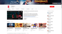 """Ali, Community, and Videos: ISSAQBAAZI  ZERO  ZERO MOVIE SONG  SONG OUT NOW  213T DECEMBER 2O 1 8  T-Series o  SUBSCRIBE 0  SERIES  0 subscribers  HOME  VIDEOS  PLAYLISTS  COMMUNITY  CHANNELS  ABOUT  Zero: ISSAQBAAZI Video Song I Shah Rukh Khan, Salman Kha...  OTHER GREAT CHANNELS  Zero: ISSAQBAAZI Video Song 