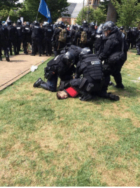 Blessed, Police, and Target: isthataeuphamism:  theweirdwideweb: Richard Spencer getting arrested after being maced in the face by police today in Charlottesville VA  Blessed image