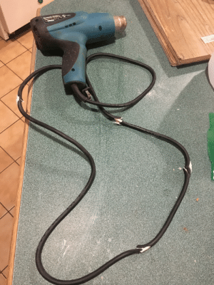 It's -52°C with the wind today, and I took a heat gun out to melt the ice to get to my truck's battery to boost it. The cold broke the cord to my heat gun. :(: It's -52°C with the wind today, and I took a heat gun out to melt the ice to get to my truck's battery to boost it. The cold broke the cord to my heat gun. :(
