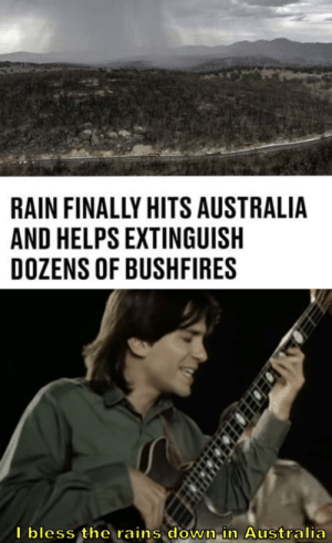 It's about time it rained down under: It's about time it rained down under