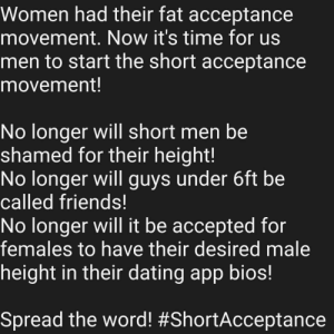 It's time to make changes! #ShortAcceptance: It's time to make changes! #ShortAcceptance
