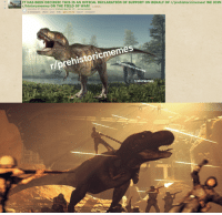 Ally, History, and Announcement: IT HAS BEEN DECIDED! THIS IS AN OFFICAL DECLARATION OF SUPPORT ON BEHALF OF r/prehistoricmemes! WE JOIN  r/historymemes ON THE FIELD OF WAR! (i.redd.it)  submitted 27 minutes ago by ProfessorBear56 [M] - announcement  2 comments share save hide give award report crosspost  r/prehistoricmemes  r/prehistoricmemes  r/animemes