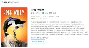 It has been more than 2 decades and Free Willy (1994) still costs money: It has been more than 2 decades and Free Willy (1994) still costs money