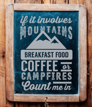 Food, Breakfast, and Coffee: it inuolues  BREAKFAST FOOD  COFFEE  Count me in  or