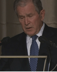 "George W. Bush, Memes, and Best: It is common at the funeral of a former US president to have the eulogy delivered by another president. But at the funeral for George HW Bush, that former president was also his son. George W Bush choked back tears when describing America's 41st president as ""the best father a son or daughter could have"". Tap the link in our bio 👆 for more about Bush Jr's touching eulogy. bbcnews remembering41 georgehwbush 41"