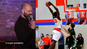 """If you ever need a palette cleanse from police brutality videos, watch Zion Williamson playing high school basketball. It's like a White Lives Don't Matter video. It is just wonderful.""   - Comedian Ted Alexandro 😂: it is just wonderful ""If you ever need a palette cleanse from police brutality videos, watch Zion Williamson playing high school basketball. It's like a White Lives Don't Matter video. It is just wonderful.""   - Comedian Ted Alexandro 😂"