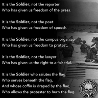 Birthday, Friends, and Guns: It is the Soldier, not the reporter  Who has given us freedom of the press.  It is the Soldier, not the poet  Who has given us freedom of speech  It is the Soldier, not the campus organizer  ho has given us freedom to protest.  It is the Soldier, not the lawyer  Who has given us the right to a fair trial.  It is the soldier who salutes the flag  Who serves beneath the flag,  And whose coffin is draped by the flag,  Who allows the protester to burn the flag 🇺🇸 FlagDay army Birthday armyparty 🇺🇸FB page Fb.Com-UncleSamsChildren 🇺🇸YouTube Channel youtube.com-c-UncleSamsMisguidedChildren 🇺🇸 Visit our website for News and Information. 🇺🇸 www.UncleSamsMisguidedChildren.com 🇺🇸 Tag Friends & Join our Brotherhood @warpig1775 @minorityredefine.inc MisguidedLife usmc USMCNation igmilitia 2A secondamendment 2ndamendment molonlabe donaldtrump Republican pewpew militaryfit militarymuscle proudamerican soldier hooah UncleSamsMisguidedSoldier 11bravo airborne guns rangers supportourtroops semperfi backtheblue nra armylife armystrong