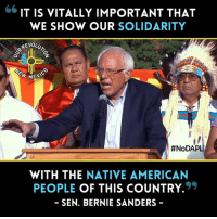 Share if you agree with Bernie Sanders #NoDAPL  Bernie Sanders support #StandWithStandingRockwater protectors! Will you? Order Now: https://bit.do/standingrock: IT IS VITALLY IMPORTANT THAT  WE SHOW OUR SOLIDARITY  REVOLU  MEMS  #NoDAPL  WITH THE  NATIVE AMERICAN  PEOPLE  OF THIS COUNTRY.  9  SEN. BERNIE SANDERS Share if you agree with Bernie Sanders #NoDAPL  Bernie Sanders support #StandWithStandingRockwater protectors! Will you? Order Now: https://bit.do/standingrock