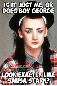 Memes Of: IT JUST ME OR  DOES Boy GEORGE  FACEBOOK COMMA  AMEOF  LOOKEXACTLY LIKE  GANGA STARK?
