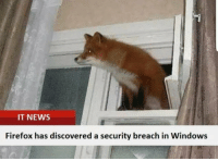 Firefox has discovered a security breach in Windows: IT NEWS  Firefox has discovered a security breach in Windows Firefox has discovered a security breach in Windows