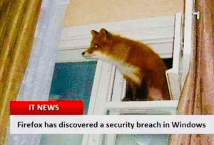 from r/dankmemes: IT NEWS  Firefox has discovered a security breach in Windows from r/dankmemes