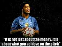 "Shade, Soccer, and Throwing Shade: ""It not just about the money, itis  about what you achieve on the pitch"" Ronaldinho throwing shade at players going to China in their prime..."
