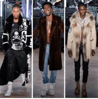 Memes, Youngthug, and 🤖: IT!  OAV  [d11 FettyWap , Desiigner, and YoungThug at Philipp Plein Fall 2017 NYFW