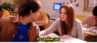 On October 3rd, he asked what day it was: It October 3rd. On October 3rd, he asked what day it was
