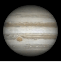 Memes, Juno, and Jupiter: It only took five nights to capture Jupiter's entire handsome face 📸 • Astronomer Damian Peach photographed Jupiter over five nights in March 2016 shortly after its opposition to assemble this movie of the giant planet's appearance. This opposition coincided with Juno's approach to Jupiter. • March 18-22, 2016 • jupiter space planet astronomy solarsystem astrophotography Repost @planetarysociety
