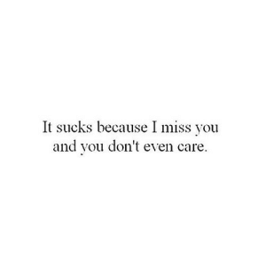 https://iglovequotes.net/: It sucks because I miss you  and vou don't even care https://iglovequotes.net/