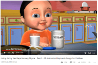 Yes Papa: IT  SUGAR  www.3drhymes.com  0:3973:06  Johny Johny Yes Papa Nursery Rhyme | Part 3- 3D Animation Rhymes & Songs for Children  1,037,646,292 views  1.7MMSHARE +...