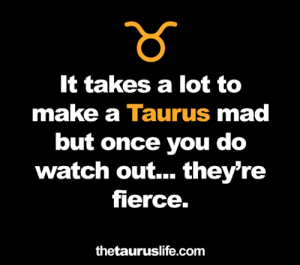 fierce: It takes a lot to  make a Taurus mad  but once you do  watch out... they're  fierce.  thetauruslife.com
