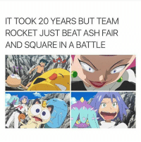 Ash, Memes, and Diamond: IT TOOK 20 YEARS BUT TEAM  ROCKET JUST BEAT ASH FAIR  AND SQUARE IN A BATTLE Diamond Is Luminously Dazzling Ow my eyes it burns