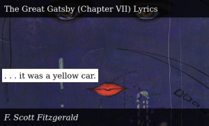 SIZZLE: . . . it was a yellow car.