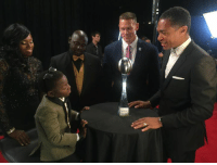 """It was an honor to present Jarrius """"JJ"""" Robertson with the """"Jimmy V Award for Perseverance."""": It was an honor to present Jarrius """"JJ"""" Robertson with the """"Jimmy V Award for Perseverance."""""""
