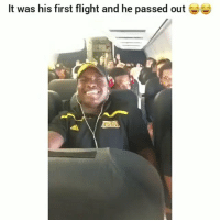 Tag someone who is afraid to fly 😂😂 @h0odvine_: It was his first flight and he passed out Tag someone who is afraid to fly 😂😂 @h0odvine_